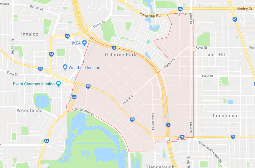 map of computer repiars in osborne park